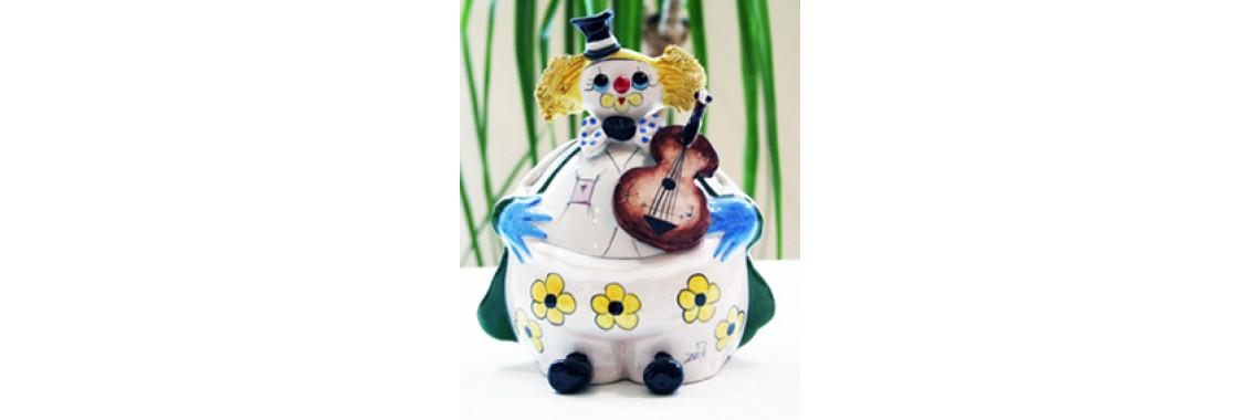 Ceramic clown / money box